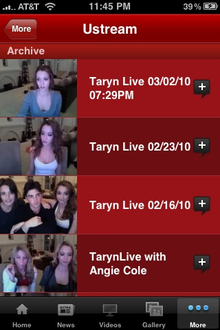 TarynSouthern Ustream