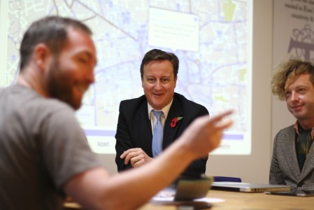 Mobile Roadie meets Prime Minister David Cameron