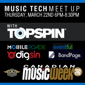MusicTech Meetup at Canadian Music Week