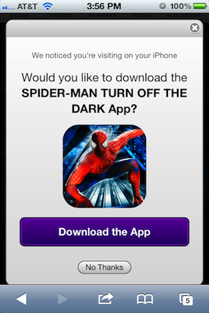 Spider-Man, Spider-Man spins an app in your hands -