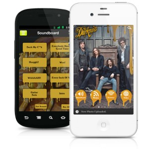 The Darkness augment reality with their official app