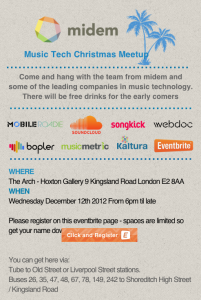 Music Tech Meetup – Christmas in London Edition