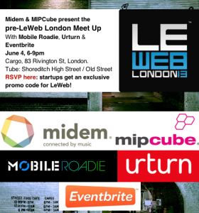 You're Invited: Pre-LeWeb London Meet Up