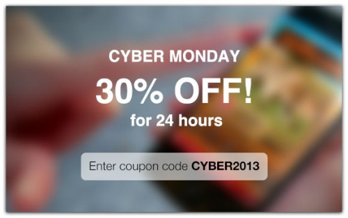 Cyber Monday - 30% off with CYBER2013