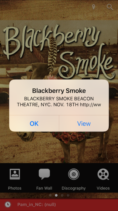push notifications iphone app blackberry smoke band promotion